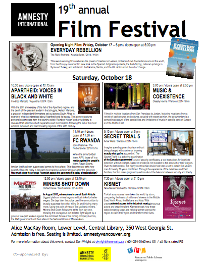 Amnesty Vanc Film Fest